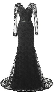 xp163 Long Mermaid Evening Gowns with Sleeves Lace Prom Dresses,Long Sleeve black lace prom dress,mermaid lace evening dress