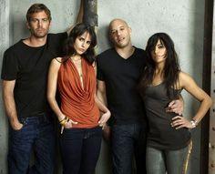 Paul Walker (Brian O'Conner), Jordana Brewster (Mia Toretto), Vin Diesel (Dominic Toretto) & Michelle Rodriguez (Letty Ortiz)