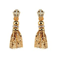 Gold drop earrings House of Lavande