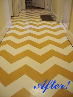 How to on painting chevron floors... because I may actually do this one day. haha
