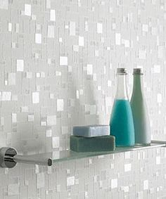 glass wall shelves for bathroom storage