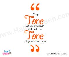 The tone of your words will set the tone of your marriage. Your words have the power to build up your spouse or to tear them down, so choose to be your spouse's biggest encourager; not their biggest critic. #MarriageTip