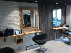 Finium Harvest Upland (White Oak) wall panels #woodwallpanels #accentwall #featurewall #retaildesignideas #bardesign #spadesign #hospitalitydesign #hairdressers #interiordesign #moderndesign