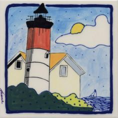 Decorative Whimsical Ceramic Tile Wall Art Hot Pad Trivet By Diane Artware - 6 X 6 Inch - Lighthouse by Artworks Home Accents. $10.00. Each tile measures 6x6 inches and has a hardboard backer for hanging or grouting.. The artist is based in the Virgin Islands and her work is some of the most highly collected Caribbean art today. Many uses: mounted wall art, incorporate into backsplashes, hot pads, trivets. Diane creates light hearted and humorous unique, hand ...