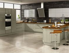 A Livorna Cream High Gloss Kitchen Design Idea Http Www