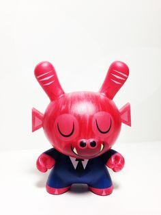"Kidrobot Dunny 3/"" Series 5 Amanda Visell Elephant Designer Vinyl Art Figure Toy"