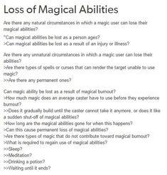 Magical abilities
