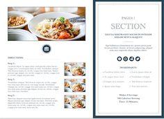 Modern Cookbook Template for iBooks Author, available at http://ibooksauthortemplate.com/templates/details/Modern_Cookbook