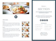Modern Cookbook Template for iBooks Author, available at http://ibooksauthortemplate.com/templates/details/Modern_Cookbook