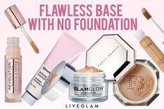 How to Get a Flawless Base Without Foundation Body Foundation, Full Coverage Foundation, Pro Makeup Tips, Mac Face And Body, Full Coverage Concealer, Make Up, Make It Yourself, Setting Spray, Perfect Skin