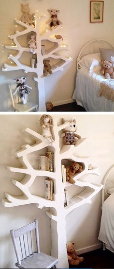 tree branch modern shelf | children's toy shelf  | furniture design
