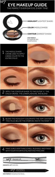 Sharpen your eye makeup skills with No7 eye shadow mascara eyeliner and this how-to guide for a brighter bigger look.
