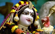 To view Radha Close Up Wallpaper of ISKCON Chowpatty in difference sizes visit - http://harekrishnawallpapers.com/srimati-radharani-close-up-wallpaper-010/