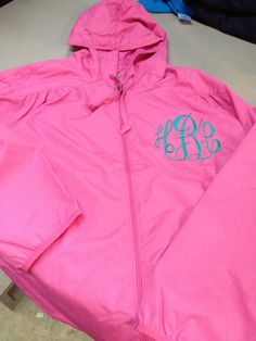 Monogrammed Rain Jacket by JanaBelles on Etsy, $28.00