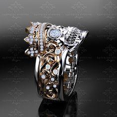 Castiel Noir Mens Skull Ring - Choose your metal Gothic Wedding Rings, Gothic Engagement Ring, Skull Wedding Ring, Gold Wedding, Mens Skull Rings, Silver Skull Ring, Gold Skull, Gold Ring, Black Gold Jewelry