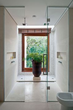 Gorgeous open shower for two.
