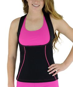 Look at this Delfin Spa Pink Bio-Ceramic Heat Intensifying Under-Bust Shaper Tank on #zulily today!