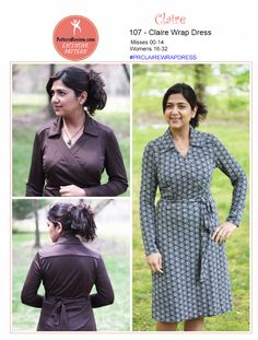 Purchase PatternReview 107 Claire Wrap Dress and read its pattern reviews. Find other Dresses, sewing patterns.