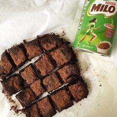 Milo Brownies   louslittlekitchen
