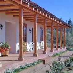 Compound Wall, Adobe, House In The Woods, Santa Maria, My Dream, Colonial, Nature Photography, House Plans, Pergola