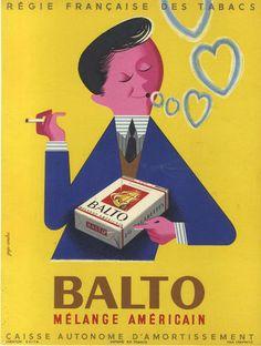 Balto cigarettes 1950s