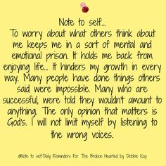 Note to self…Nov. 22nd