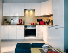 New HIGH GLOSS WHITE Kitchen Set Top Line | Corner Complete Kitchen 14 units LED