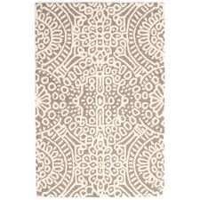 Temple Wool Micro Hooked Taupe/Ivory Area Rug