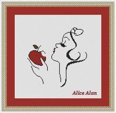 Cross Stitch Pattern Disney Snow White Princess Apple Counted Cross Stitch Pattern/Instant Download Epattern PDF File