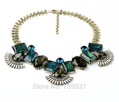 N00811 OL Style Large Geometric Stone Statements Chokers Necklace For Office Lady