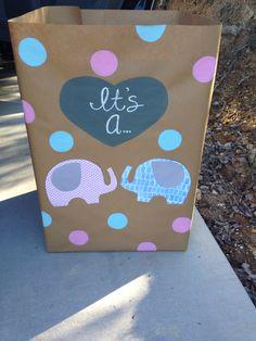 Elephant gender reveal box