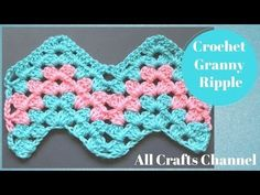 How to Crochet Granny Ripple Pattern - Crochet Videos Zig Zag Crochet, Crochet Ripple Afghan, Crochet Baby Blanket Free Pattern, Stitch Crochet, Crochet Granny, Granny Pattern, Crochet Afgans, Crochet Stitches For Beginners, Crochet Stitches Patterns