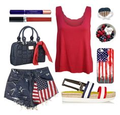 """""""USA"""" by texaspinkfox ❤ liked on Polyvore"""