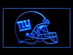 New York Giants Helmet Display Shop Neon Light Sign