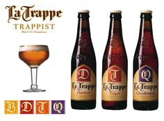 9 top beers from beercycling.com ~ La Trappe Dubbel (6.5% ABV), a beautiful dark Brown double, is a real Trappist Ale, from the Abbey of Koningshoeven. This is Holland's one and only Trappist Brewery. (the six others are in Belgium) Mouthfeel is almost butter like, foamy, and has a very well balanced taste.