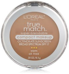 L'Oreal Paris True Match Super-Blendable Compact Makeup, Natural Beige, 0.30 Ounces ** Check this awesome product by going to the link at the image.