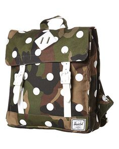 HERSCHEL SUPPLY CO KIDS SURVEY 6L BACKPACK - WOOD CAMO POLKA WHI
