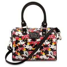 Minnie Mouse Duffle Crossbody Bag by Loungefly