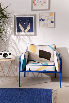 Howell Modern Print Arm Chair | Urban Outfitters