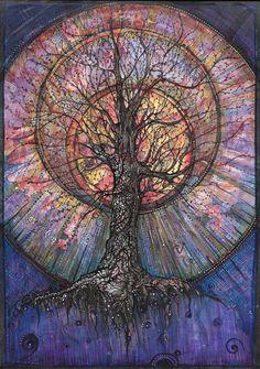 Tree of Life Tree Of Life Art, Tree Art, Tree Of Life Painting, Fantasy Kunst, Fantasy Art, Arte Viking, Goddess Art, Geometry Art, Hippie Art