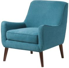 Oxford Teal Modern Accent Chair - Overstock Shopping - Great Deals on Living Room Chairs Furniture, Living Room Chairs, Modern Chairs, Comfortable Accent Chairs, Blue Accent Chairs, Cheap Mid Century Modern, Chair, Armchair, Modern Accent Chair