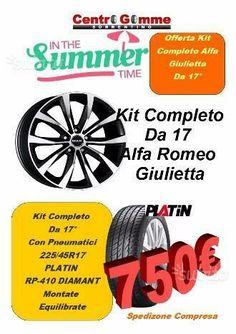 Cerchi In Lega Giulietta Golf 17 Gomme Spediti Volkswagen Golf, Audi A3, Sanitary Napkin