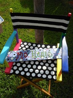 Directors CHAIR as shown with canvas seat and by MrsStJohnsArtCamp