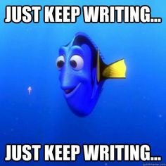 Just Keep Writing, Just Keep Writing regardless of it's just pictures or in a language we may not speak. Students should write to practice. Students should write to become better writers. They all have to start somewhere. It is also important that students read.