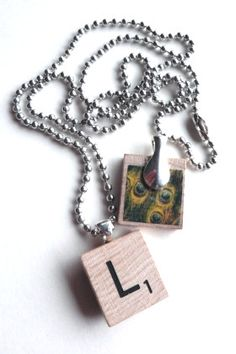 How to make Recycled Scrabble Tile Pendant - DIY Craft Project with instructions from Craftbits.com