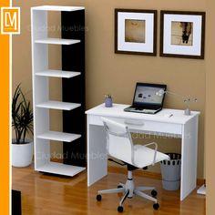 combo escritorio cajon amplio + biblioteca moderna oferta!!!