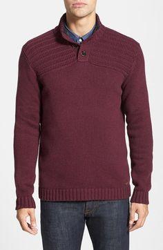 Ted Baker London 'HARSTON' Funnel Neck Cotton Blend Sweater