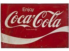 Large Vintage Reclaimed Steel Coca Cola Sign - SOLD!
