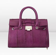 handbag in plum