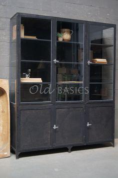Apothekerskast Demi 3-IND   Old BASICS